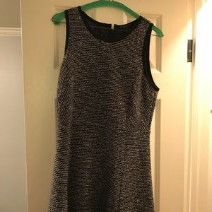 Black and grey dress from J. Crew